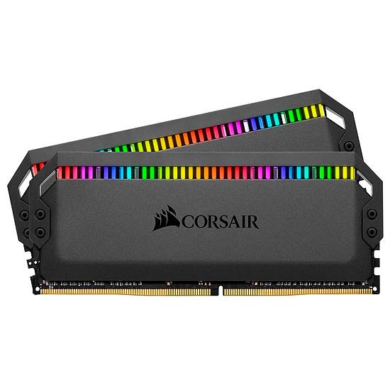 Mémoire Corsair Dominator Platinum Black RGB -  2 x 16 Go (32 Go) - 3200 MHz DDR4 - CL16
