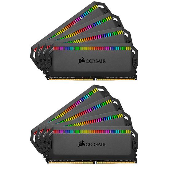 Mémoire Corsair Dominator Platinum RGB 64 Go (8 x 16 Go) DDR4 3000 MHz CL15 Black