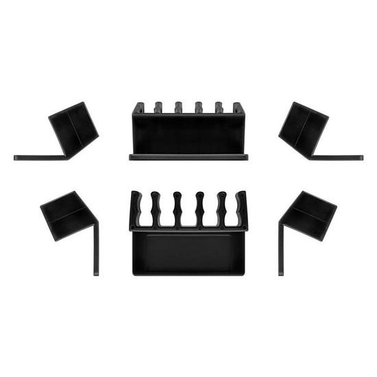 Passe câble et serre câble Goobay 5 Slot Cable Management - Noir
