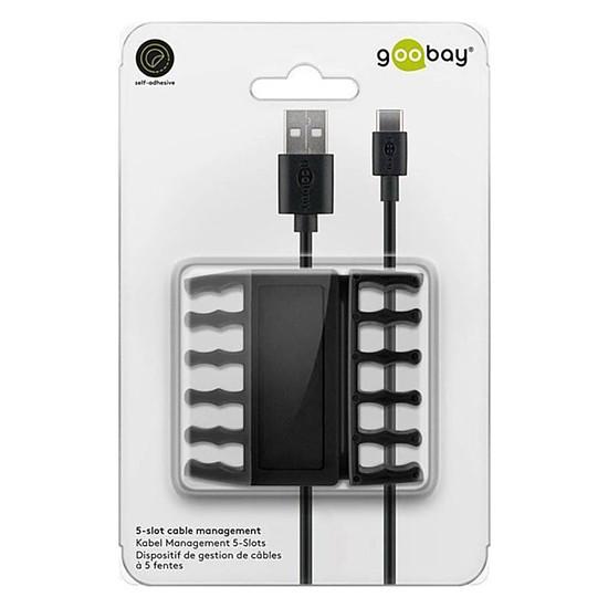 Passe câble et serre câble Goobay 5 Slot Cable Management - Noir - Autre vue