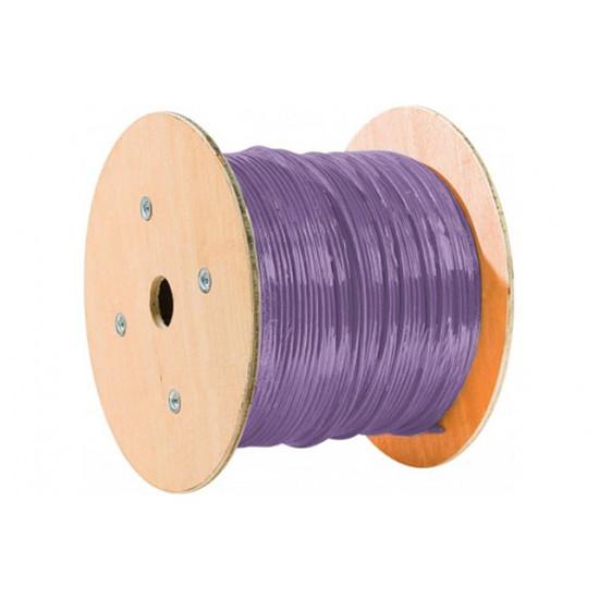 Connectique RJ45 Câble Monobrin RJ45 catégorie 6 F/UTP rouleau de 305 mètres (Violet)