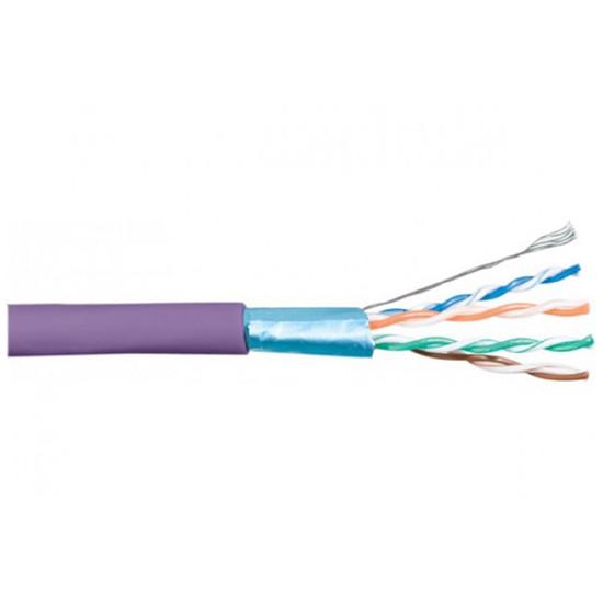Connectique RJ45 Câble Monobrin RJ45 catégorie 6 F/UTP rouleau de 305 mètres (Violet) - Autre vue