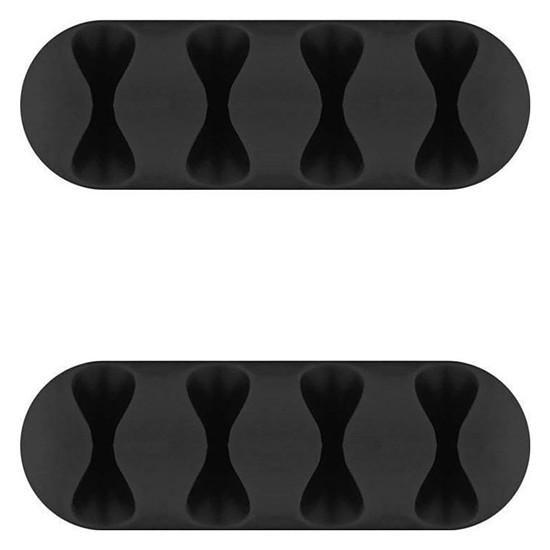 Passe câble et serre câble Goobay 4 Slot Cable Management - Noir