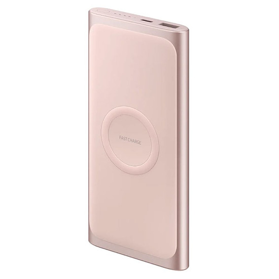 Batterie et powerbank Samsung Batterie externe sans fil (or rose) - 10000 mAh - Qi