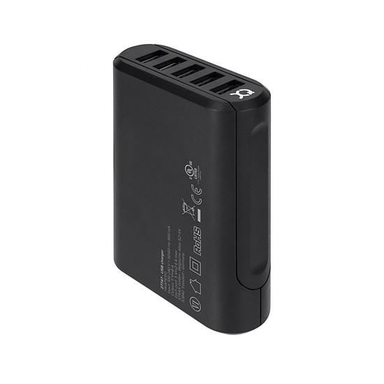 Chargeur xqisit Chargeur de voyage (noir) - 5 USB - Autre vue