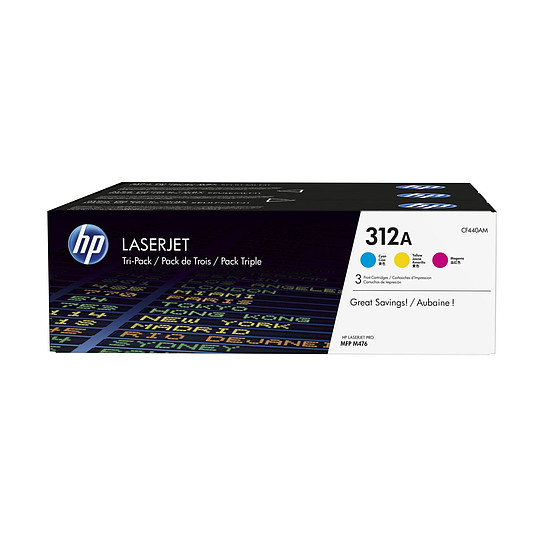 Toner imprimante HP TriPack CF440AM
