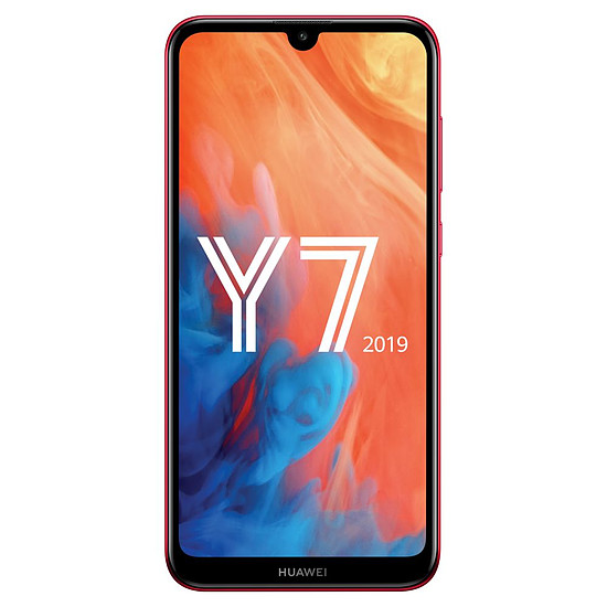 Smartphone et téléphone mobile Huawei Y7 2019 (rouge) - 32 Go - 3 Go