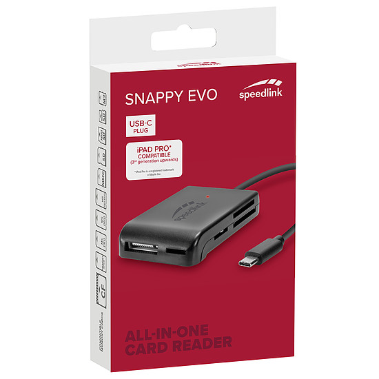 Lecteur de carte mémoire Speedlink Snappy EVO (USB-C) - Autre vue