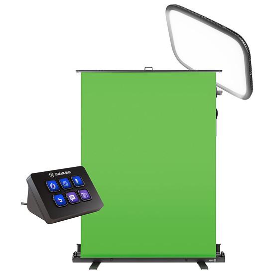 Accessoires streaming Elgato Green Screen + Key Light + Stream Deck Mini