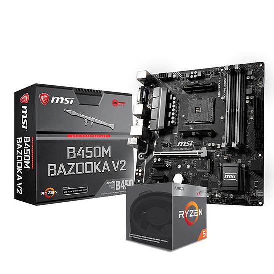 Kit upgrade PC AMD Ryzen 5 2400G + MSI B450M Bazooka V2