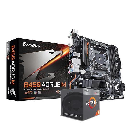 Kit d'évolution PC AMD Ryzen 5 2400G + Gigabyte B450 Aorus M