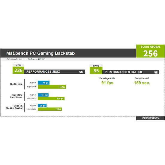 PC de bureau Materiel.net Backstab [ Win10 - PC Gamer ] - Autre vue