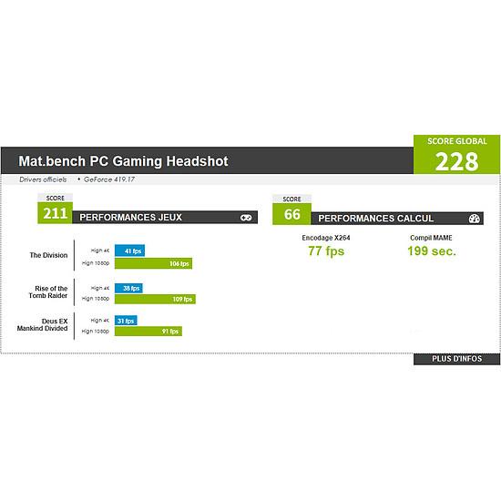 PC de bureau Materiel.net Headshot [ PC Gamer ] - Autre vue