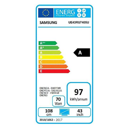 TV SAMSUNG UE43RU7405 TV LED UHD 4K 108 cm - Autre vue