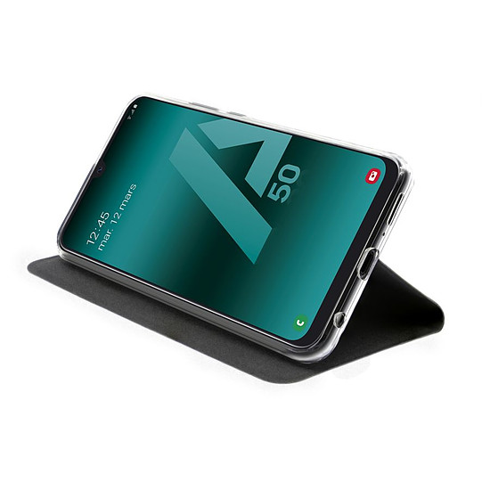 Coque et housse Akashi Etui Folio (noir) - Samsung Galaxy A50 - Autre vue