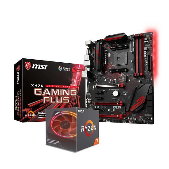 Kit d'évolution PC AMD Ryzen 7 2700X + MSI X470 Gaming Plus