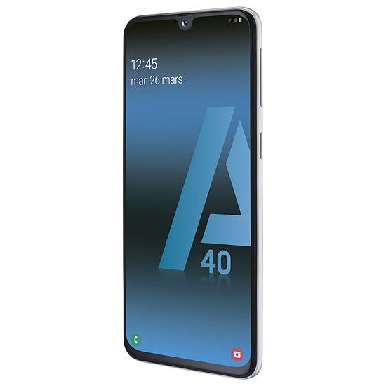 Smartphone et téléphone mobile Samsung Galaxy A40 (blanc) - 64 Go - 4 Go