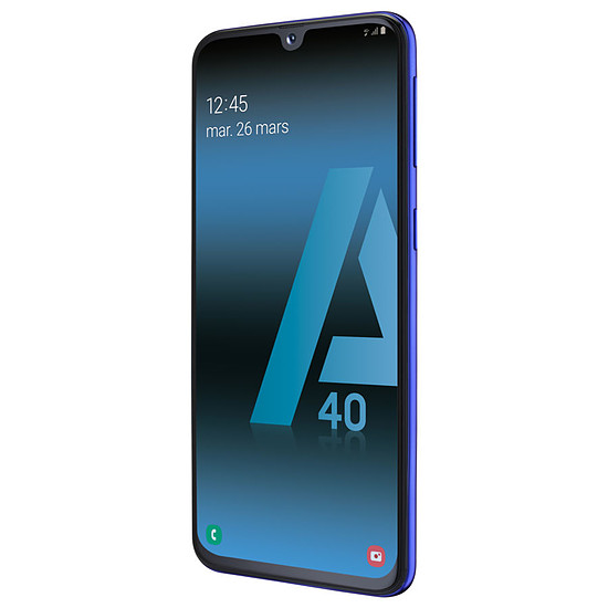 Smartphone et téléphone mobile Samsung Galaxy A40 (bleu) - 64 Go - 4 Go