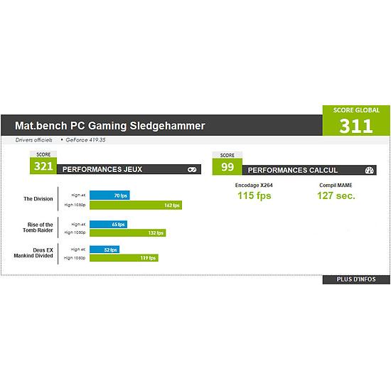 PC de bureau Materiel.net Sledgehammer [ Win10 - PC Gamer ] - Autre vue