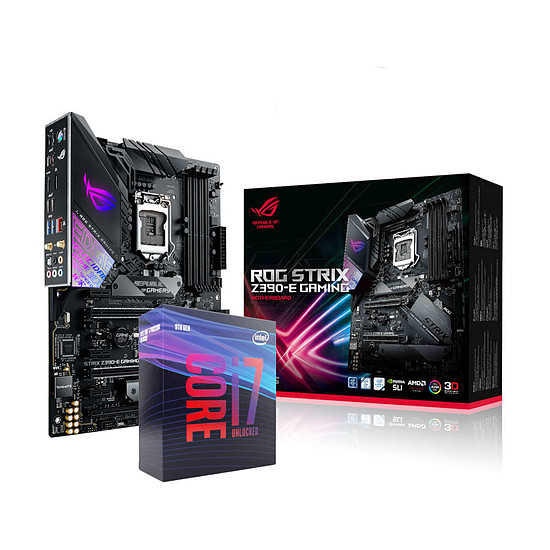 Kit upgrade PC Intel Core i7-9700K + ASUS ROG STRIX Z390-E GAMING