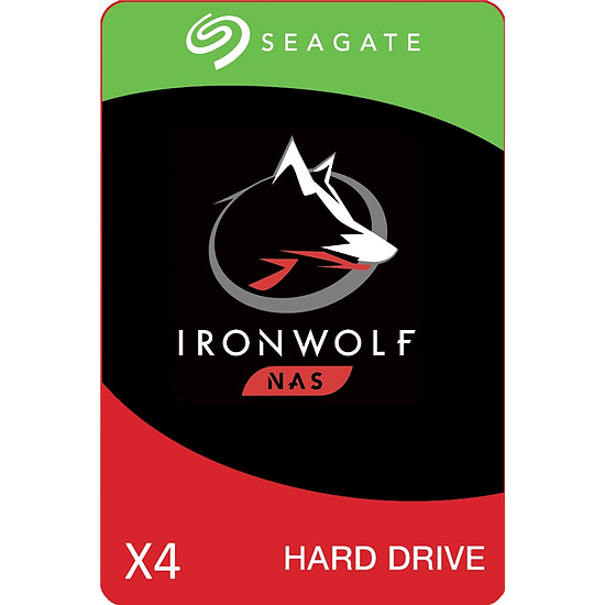 Disque dur interne Seagate IronWolf - 3 To - 64 Mo - Pack de 4