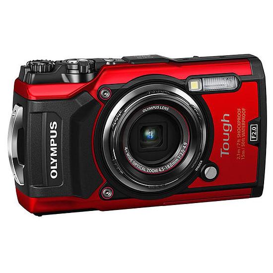 Appareil photo compact ou bridge Olympus Tough TG-5 Rouge + LG-1 + Joby GorillaPod 325 - Autre vue
