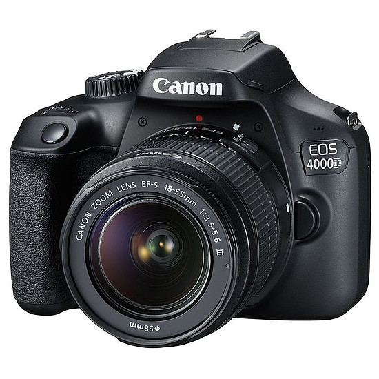 Appareil photo Reflex Canon EOS 4000D + EF-S 18-55 mm f/3.5-5.6 III + Kingston microSD 8 GO + Caselogic FLXM-101 Antharcite + Manfrotto Compact Action Noir - Autre vue