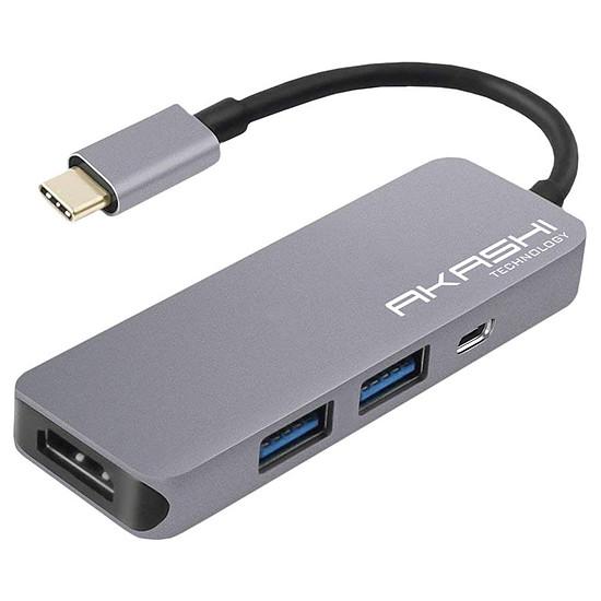 Adaptateurs et câbles Akashi Hub USB Type C