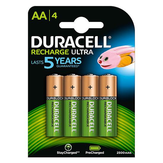 Pile et chargeur Duracell Recharge Ultra AA 2500 mAh (par 4)