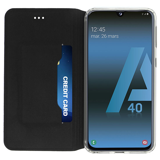 Coque et housse Akashi Etui Folio (noir) - Samsung Galaxy A40 - Autre vue
