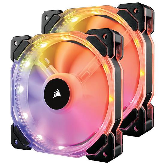 Ventilateur Boîtier Corsair HD140 RGB LED High Performance PWM Pack de 2