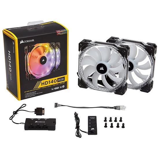 Ventilateur Boîtier Corsair HD140 RGB LED High Performance PWM Pack de 2 - Autre vue