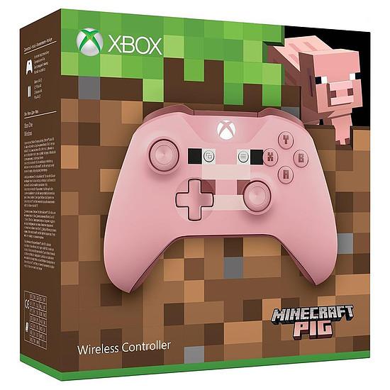 Manette de jeu Microsoft Xbox One - Minecraft Pig Edition - Autre vue