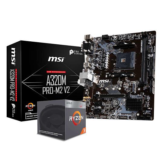 Kit d'évolution PC AMD Ryzen 3 2200G + MSI A320M PRO M2 V2