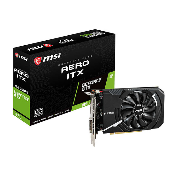 Carte graphique MSI GeForce GTX 1650 AERO ITX