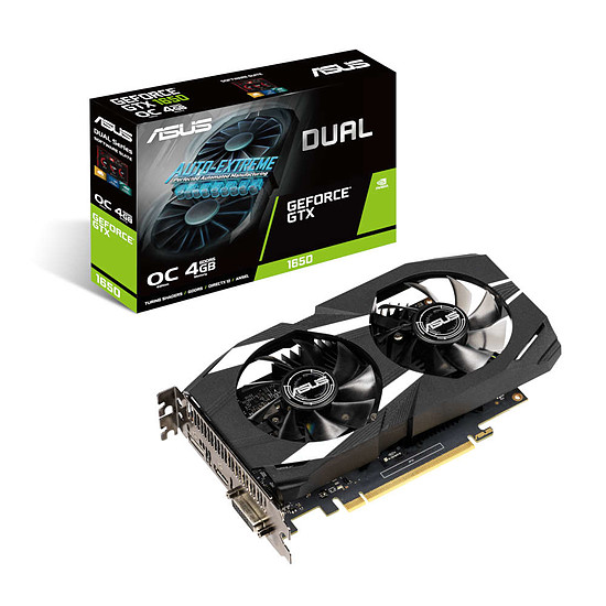 Carte graphique Asus GeForce GTX 1650 Dual OC