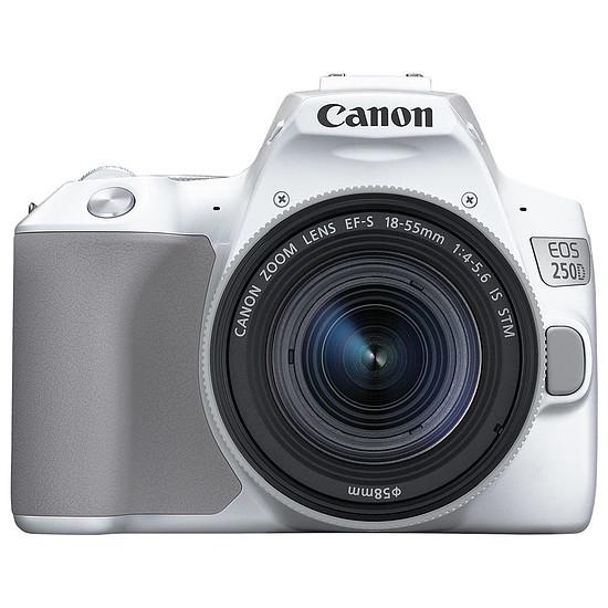 Appareil photo Reflex Canon EOS 250D Blanc + 18-55 IS STM Argent