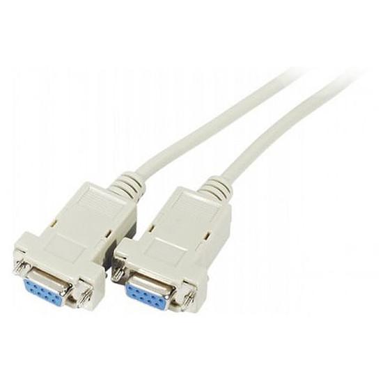 Série Câble DB9 Null Modem femelle / femelle (5 mètres)