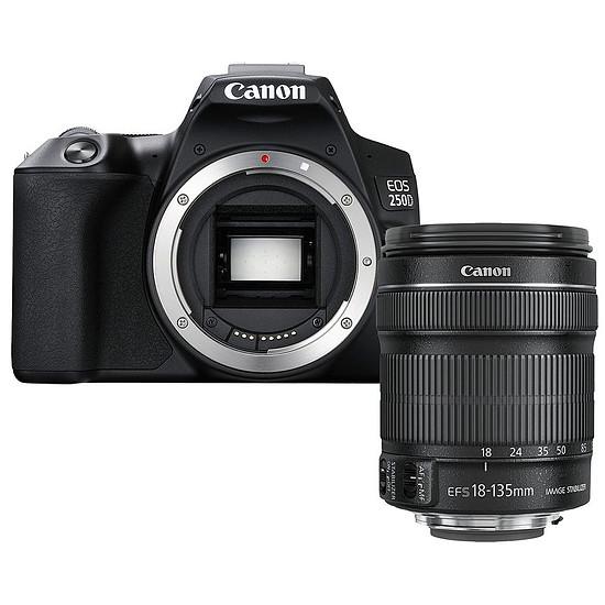 Appareil photo Reflex Canon EOS 250D Noir + 18-135 IS STM Noir