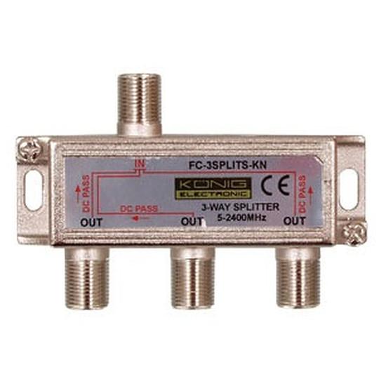 Câble Satellite Répartiteur coaxial 3 voies Type F