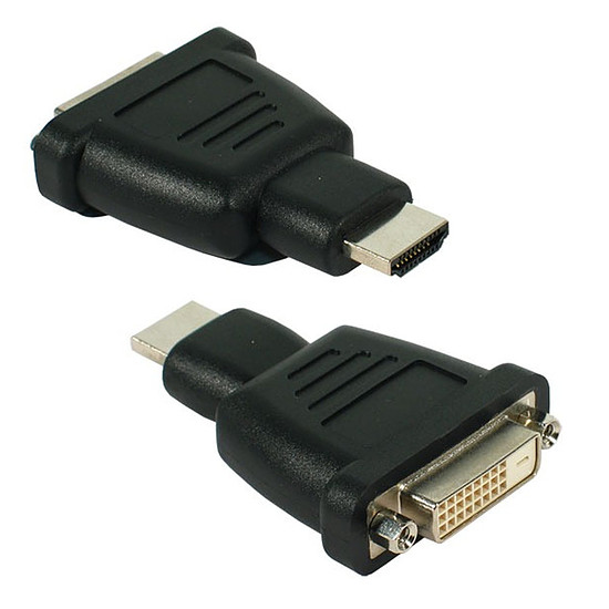 DVI Adaptateur DVI-D Femelle vers HDMI mâle