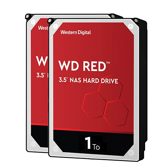 Disque dur interne Western Digital WD Red - 1 To - 64 Mo - Pack de 2