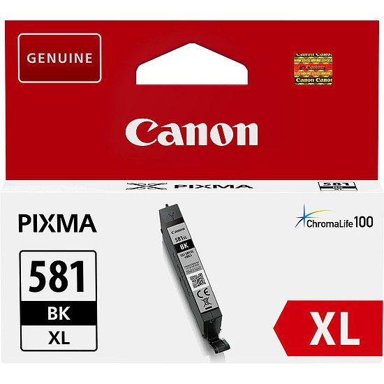 Cartouche imprimante Canon CLI-581BK Noir XL