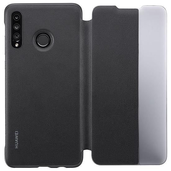 Coque et housse Huawei Etui Flip Smart View (noir) - Huawei P30 Lite - Autre vue