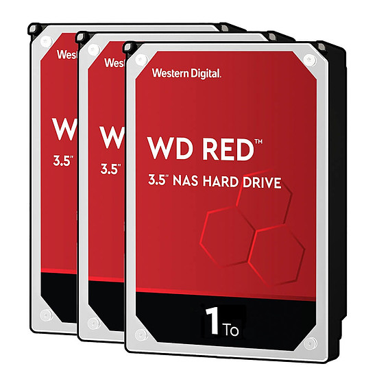 Disque dur interne Western Digital WD Red - 1 To - 64 Mo - Pack de 3