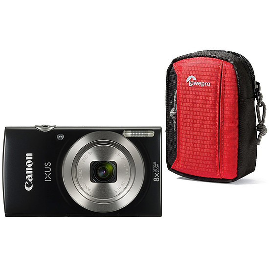 Appareil photo compact ou bridge Canon IXUS 185 Noir + Lowepro Tahoe 15 II Rouge