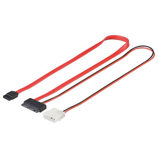 Serial ATA Câble micro SATA 2-en-1 avec alimentation Molex