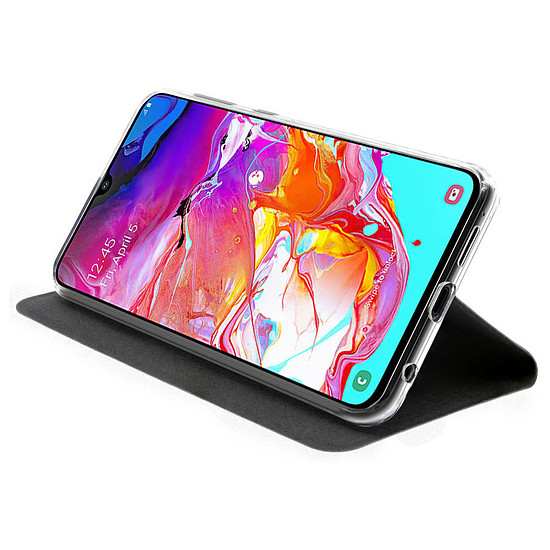 Coque et housse Akashi Etui Folio (noir) - Samsung Galaxy A70 - Autre vue
