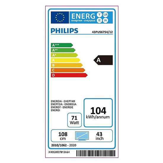 TV Philips 43PUS6754 TV LED UHD 4K 108 cm - Autre vue