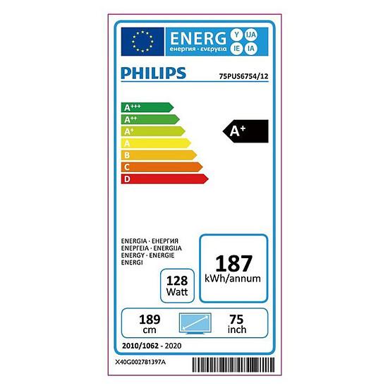 TV Philips 75PUS6754 TV LED UHD 4K 189 cm - Autre vue